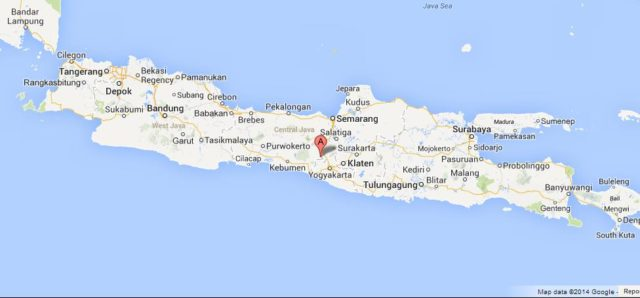 Where is Borobudur on Map of Java