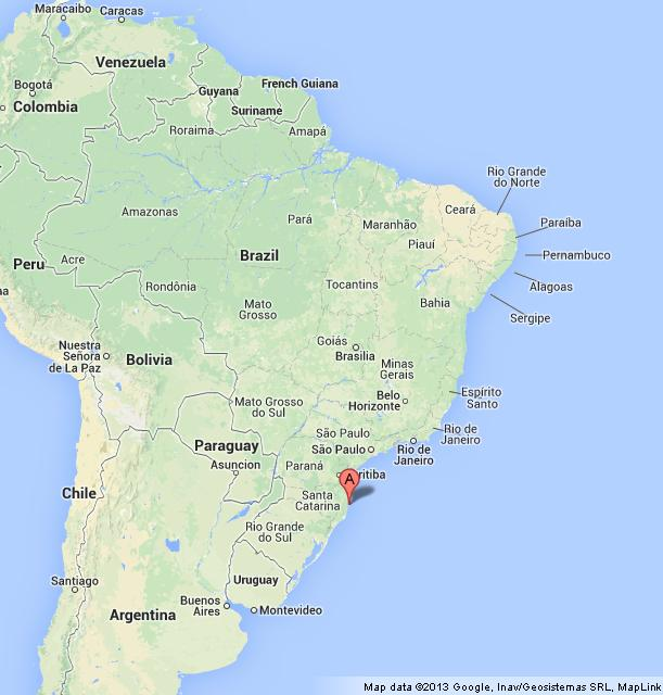 Where is Florianopolis on Map of Brazil