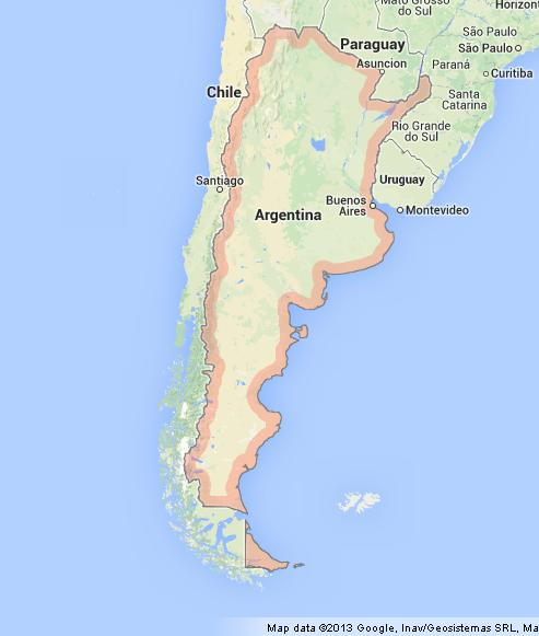 Map of Argentina World Easy Guides