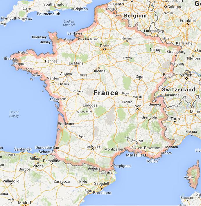 Map of France World Easy Guides