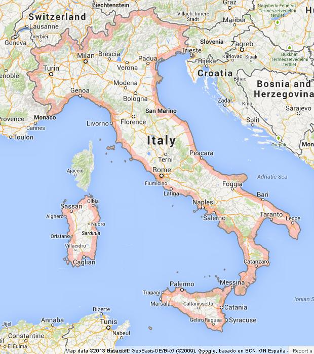 Map of Italy World Easy Guides