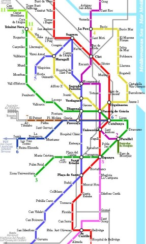 Subway Map Of Barcelona Spain.Barcelona The Gaudi S City World Easy Guides
