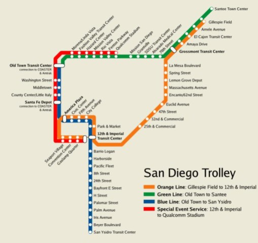 San Diago Subway Map.San Diego Beautiful City In California World Easy Guides