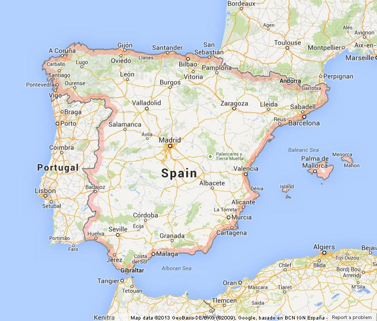 Map of Spain World Easy Guides