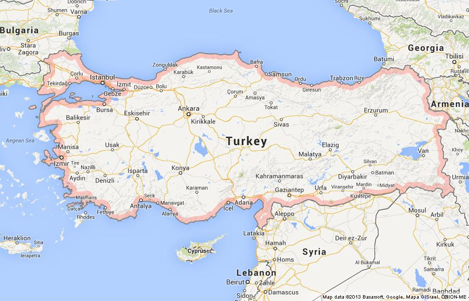 Map of Turkey World Easy Guides