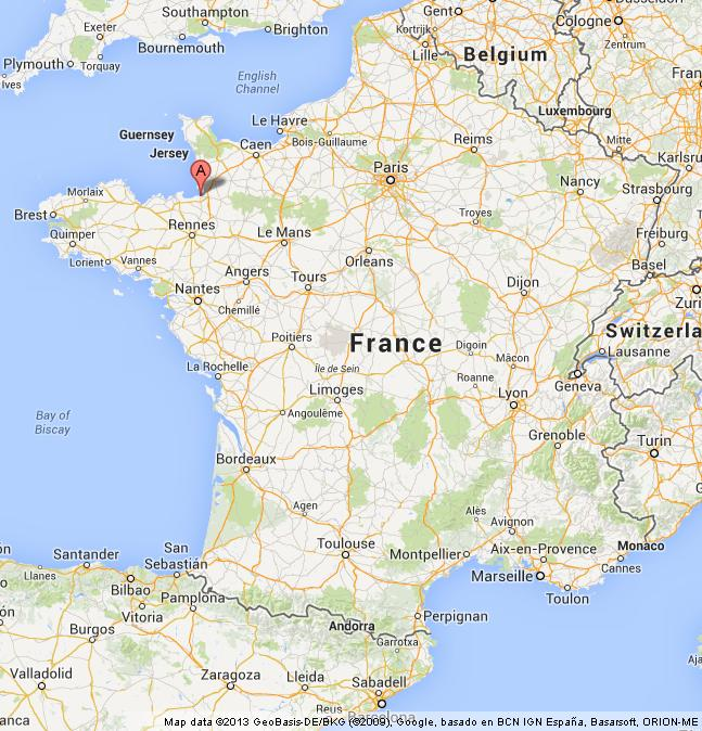 Mont St Michel On Map Of France