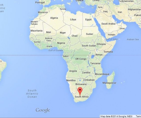 Where is South Africa on Map of Africa