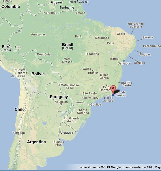 Buzios on Map of Brazil