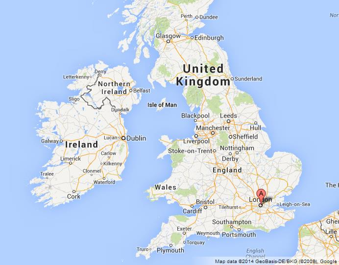 London on Map of UK – Map of London Uk