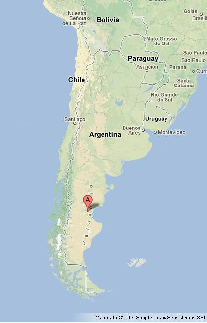 Patagonia on Map of Argentina
