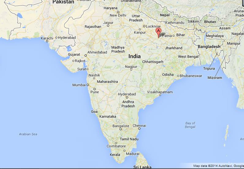 location of varanasi in india map Varanasi On Map Of India location of varanasi in india map