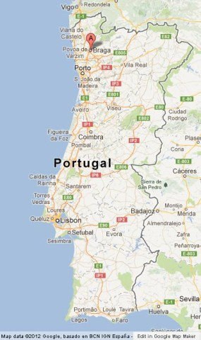 Braga The Praying City Of Portugal World Easy Guides - Portugal map google