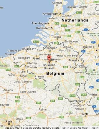 Brussels On Belgium Map World Easy Guides - Where is brussels