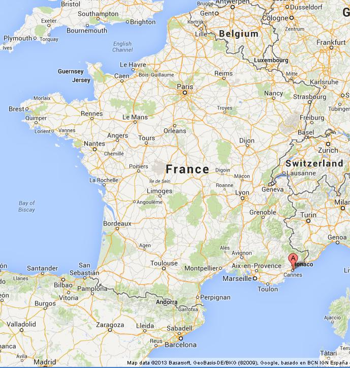Cannes on Map of France World Easy Guides