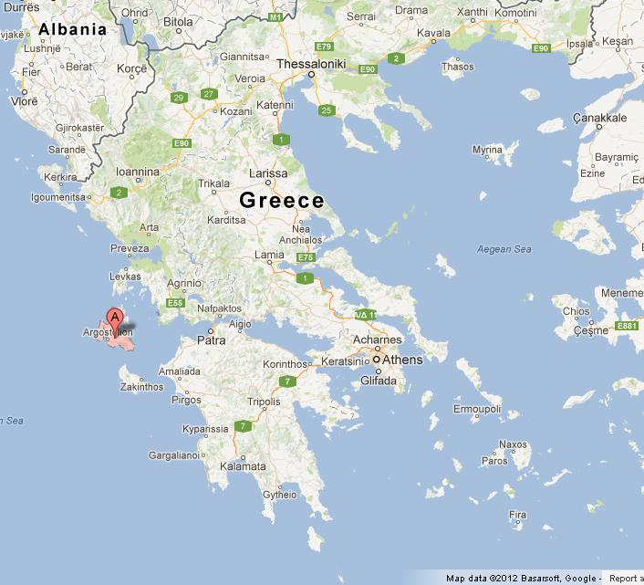 Kefalonia Greece Map Kefalonia on Map of Greece