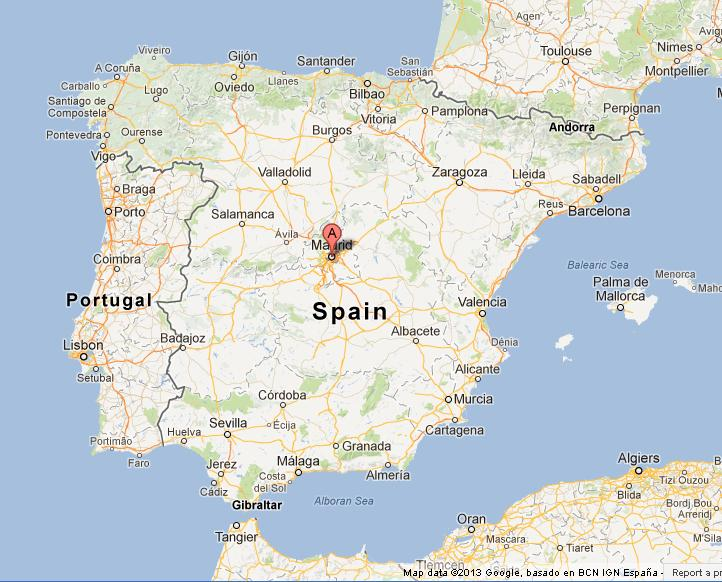 MADRID SPAIN MAP - Imsa Kolese