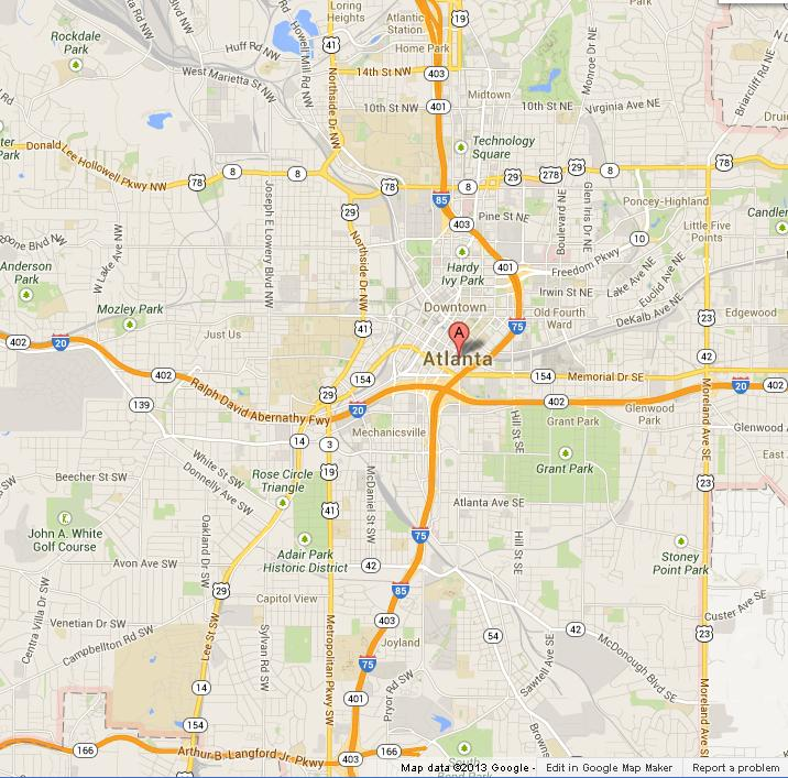 Atlanta Usa Map Related Keywords Amp Suggestions  Atlanta