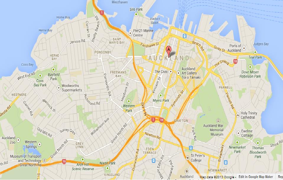 map of auckland