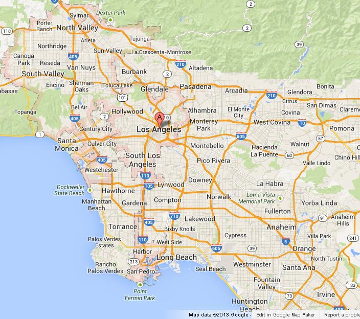 Map Of Los Angeles  World Easy Guides