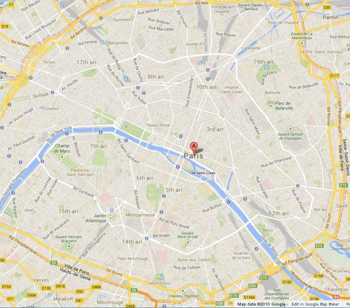 Map of Paris World Easy Guides