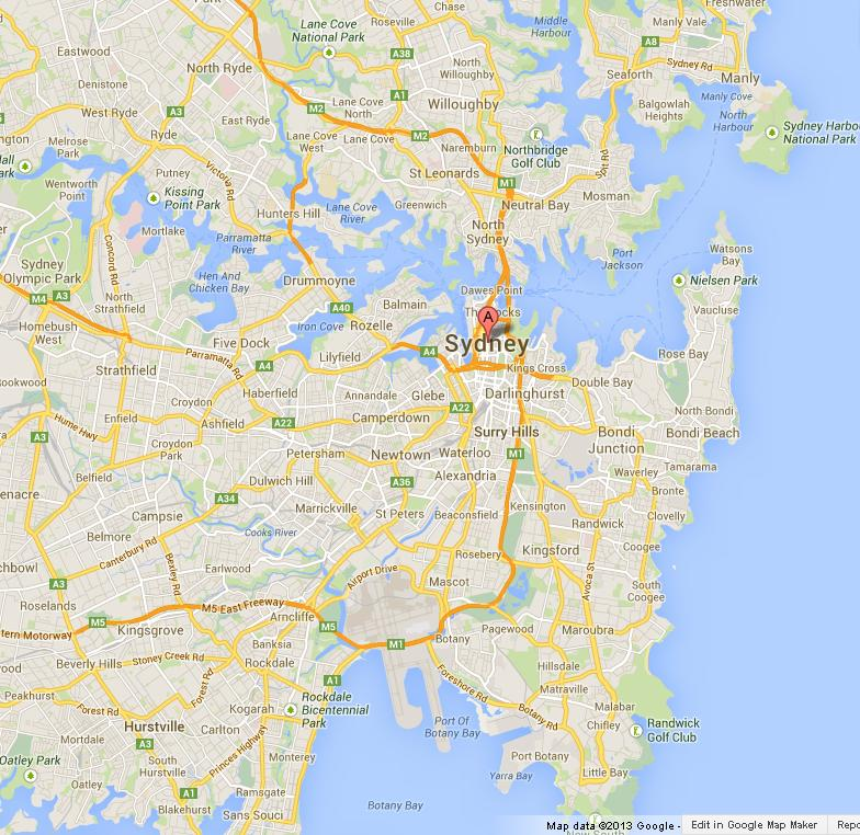 Map of Sydney World Easy Guides