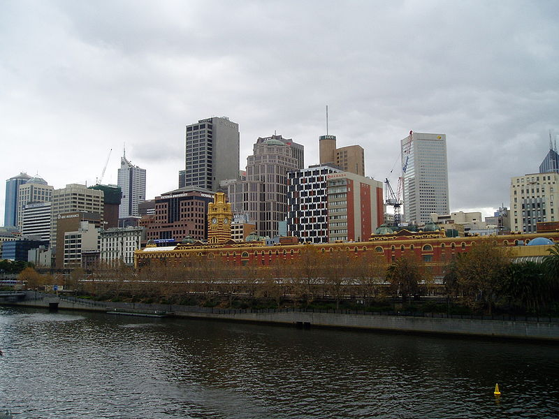 Melbourne City and River