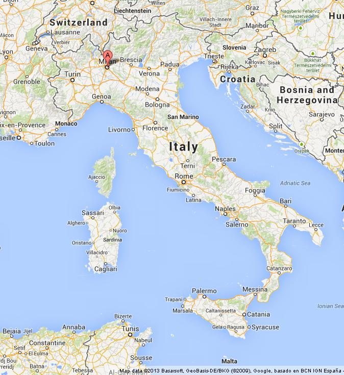 Milan on map of italy gumiabroncs Choice Image