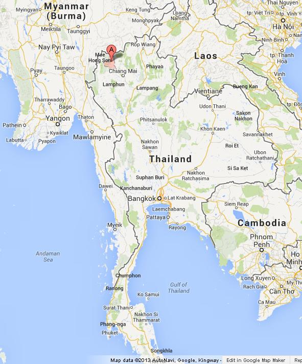 Pai on Map of Thailand | World Easy Guides Happy Italy