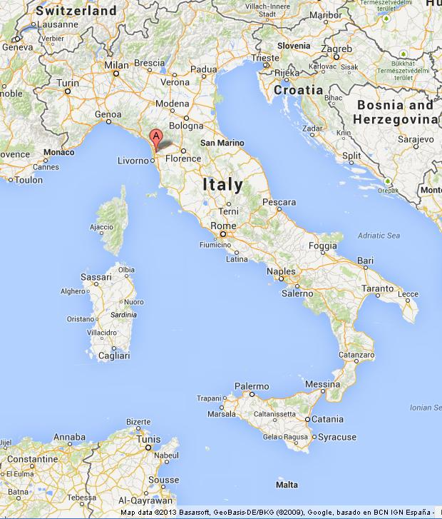Pisa on map of italy gumiabroncs Choice Image