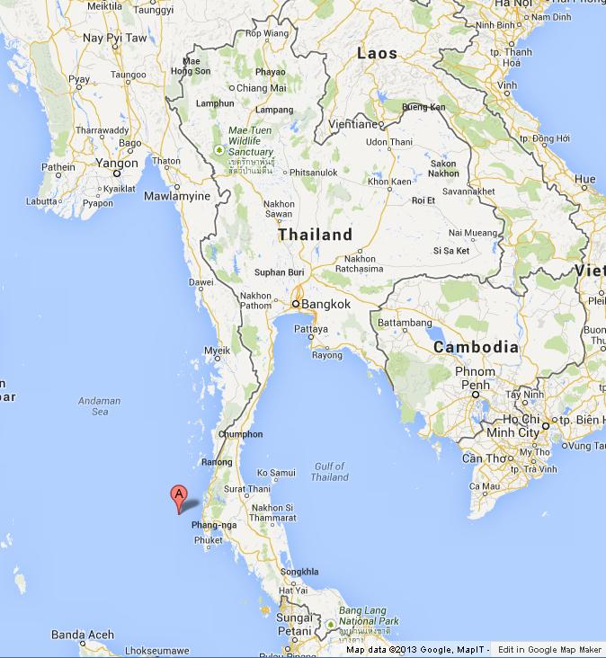 Similan Islands on Map of Thailand World Easy Guides