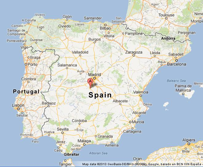 Toledo on Map of Spain World Easy Guides