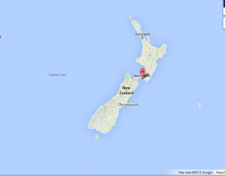 Where Is Wellington New Zealand On The Map.Wellington On Map Of New Zealand