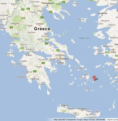 Where is Amorgos on Map of Greece