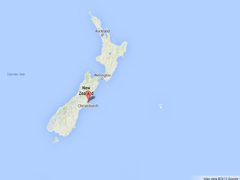 Where Is Christchurch New Zealand On The Map.Christchurch On Map Of New Zealand