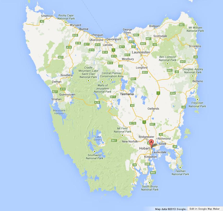 Hobart On Map Of Tasmania World Easy Guides - Hobart map