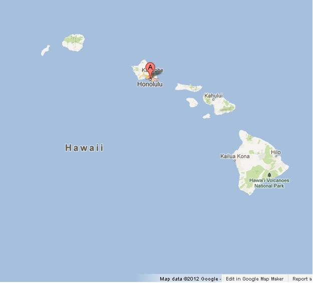Honolulu On Map Of Hawaii  World Easy Guides