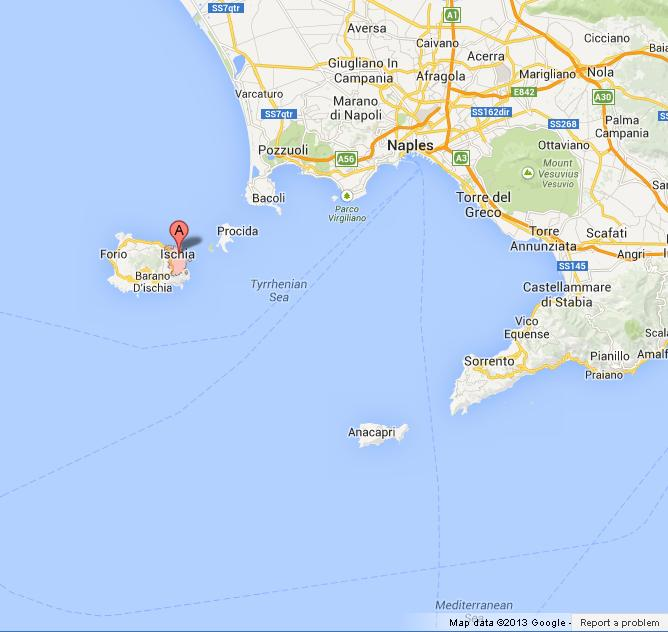 Ischia on Map of Bay of Naples World Easy Guides
