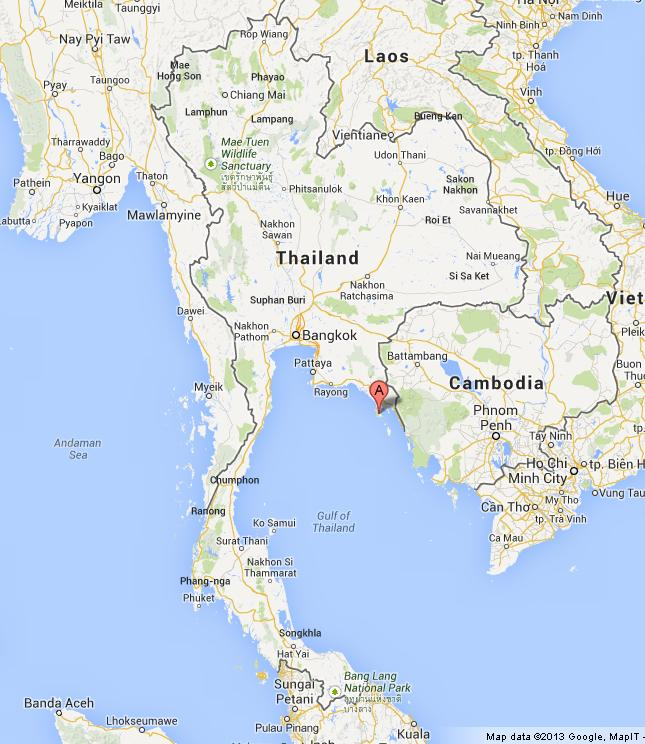 Ko Chang On Map Of Thailand