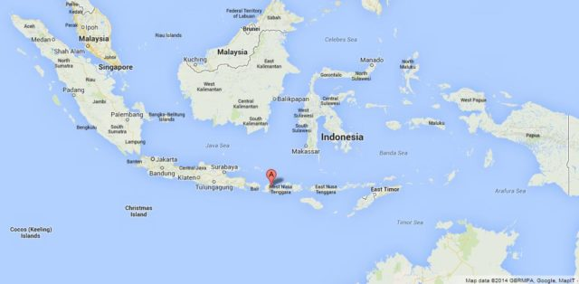 Where is Lombok on Map of Indonesia