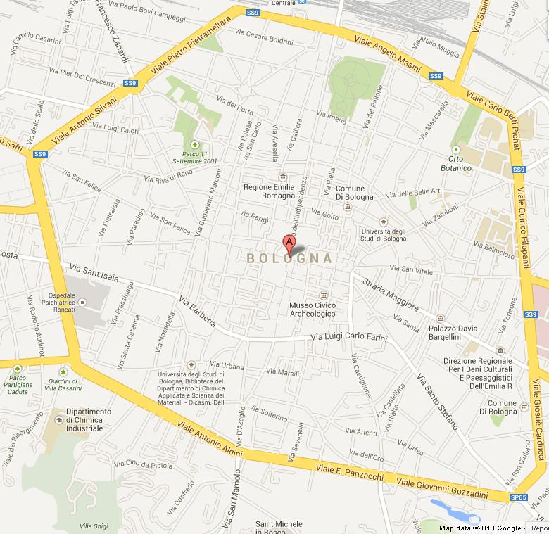 Map Of Italy Bologna.Map Of Bologna