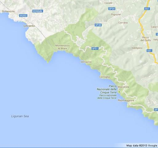 Riomaggiore Italy Map.Cinque Terre Five Charming Villages World Easy Guides