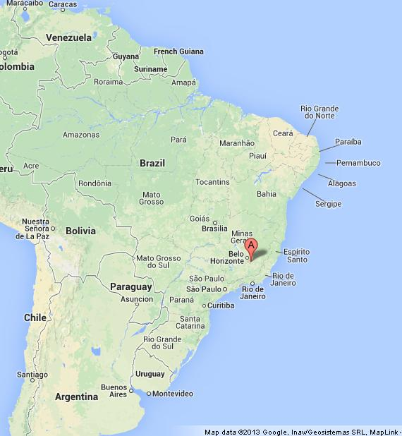 Ouro preto on map of brazil world easy guides where is ouro preto on map of brazil gumiabroncs Image collections