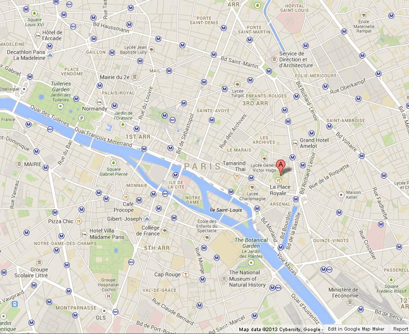 how to get to place des vosges