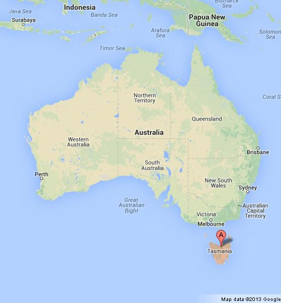Map Of Australia And Tasmania.Tasmania On Map Of Australia