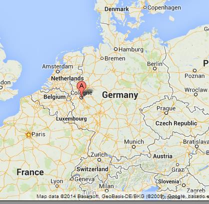 Map Of Germany Showing Cologne.Cologne On Map Of Germany