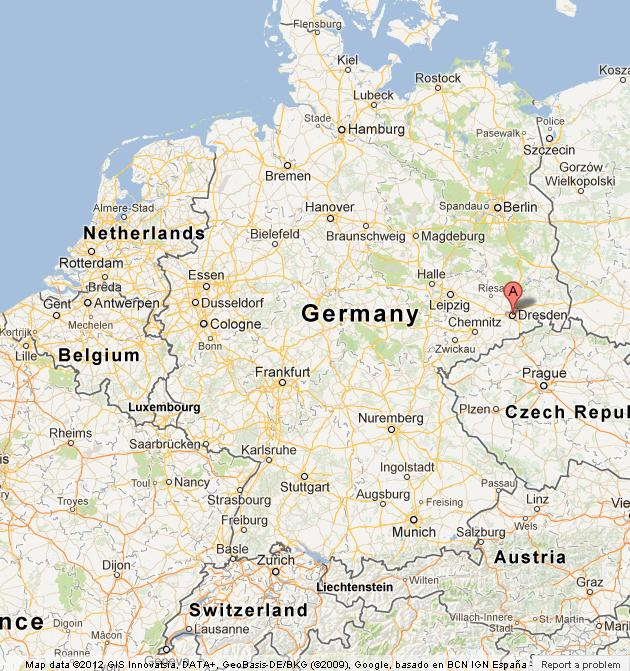 Dresden On Map Of Germany