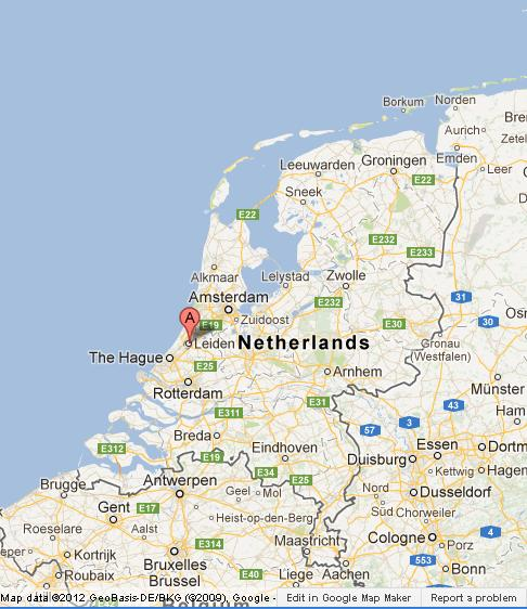 Leiden on Map of Netherlands World Easy Guides