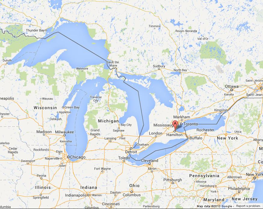 Great Lakes Are Five Huge Lakes World Easy Guides - The great lakes on us and canada map