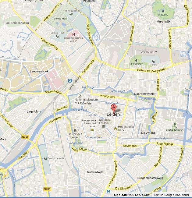 Map of Leiden World Easy Guides