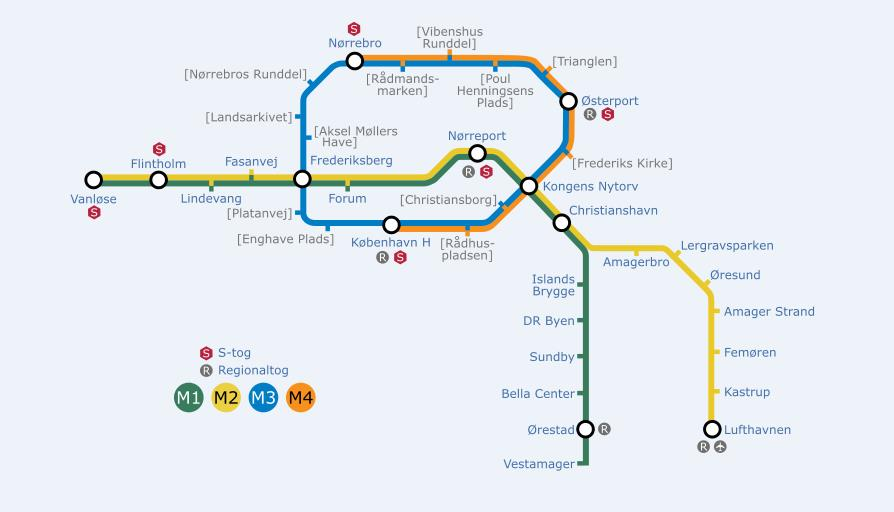Map of Metro of Copenhagen World Easy Guides